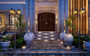 Picture the building, door, entrance, ENTRANCE, BULCHANDANI VILLA