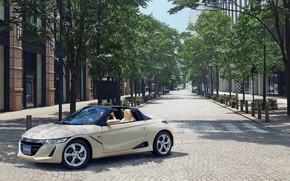 Picture auto, trees, street, convertible, Honda, S660
