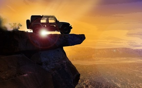 Wallpaper car, sky, landscape, Jeep, montain, vale, Jeep Easter Safari