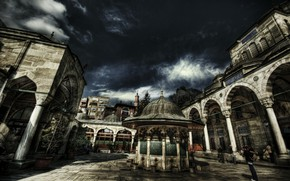 Picture HDR, Istanbul, Turkey, Istanbul, Turkey, Bayezid mosque, Bayezid Mosque