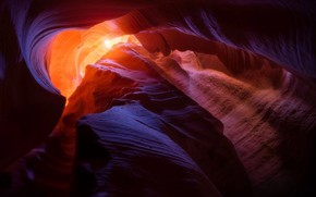 Picture light, nature, rocks, texture, USA, Antelope canyon