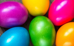 Picture colorful, Easter, rainbow, spring, Easter, eggs, Happy, the painted eggs