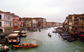 Picture Panorama, Italy, Venice, Building, Italy, Venice, Italia, Venice, Panorama, Overcast, Grand Canal, The Grand Canal