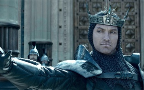 Picture cinema, armor, crown, man, movie, Jude Law, film, king, King Arthur: Legend of the Sword, …