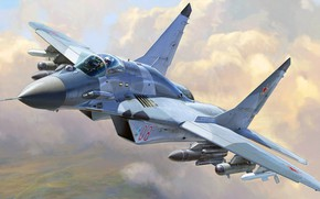 Wallpaper OKB MiG, the fourth generation, The Russian air force, Soviet multipurpose fighter, The MiG-29SMT, a ...