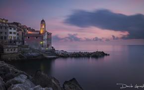 Picture sea, the sky, landscape, sunset, shore, horizon, Italy