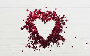 Picture Background, Sequins, Heart