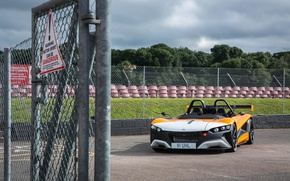 Picture supercar, orange, asphalt, vegetation, sport cars, VŪHL, VŪHL 05rr, Vuhl 05rr