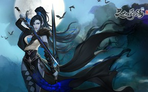Picture girl, weapons, the game, warrior, art, fantasy, PvE, Lingshan Qi Yuan