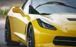 Picture yellow, design, the front, Corvette Chevrolet