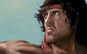 Wallpaper Rambo, Sylvester Stallone, Rambo, Painting, Artwork