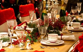 Picture table, glasses, Cup, decor, serving