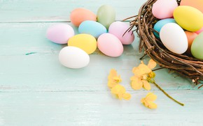 Picture flowers, branches, holiday, eggs, Easter, socket