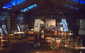Picture workshop, Studio, Art Class Night, final render