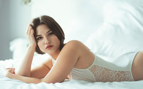Picture look, pose, model, bed, body, Isabel CarmonaVi