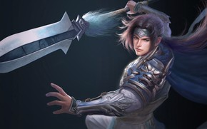 Picture weapons, sword, warrior, fantasy, art, Ruoxin Zhang, Zhao Yun