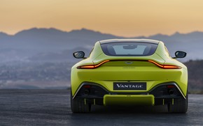 Picture Aston Martin, Vantage, the evening, rear view, 2018