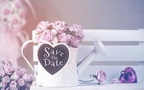 Picture love, flowers, heart, roses, lake, love, heart, flowers, romantic, roses, tender