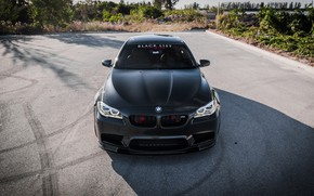 Picture BMW, Black, F10, Sight, Evel