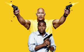 "Wallpaper strong, muscular, spy, pose, tatoo, Calvin Joyner, Dwayne ""The Rock"" Johnson, Central Intelligence, yellow, Dwayne ..."