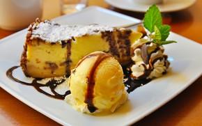 Picture chocolate, ice cream, cake, cake, sweet, dessert, biscuit, Ice cream