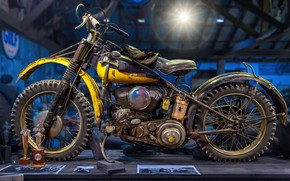 Wallpaper background, motorcycle, Harley-Davidson