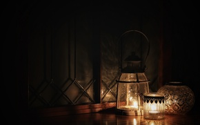 Picture darkness, candles, lights, style