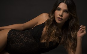 Wallpaper hair, Lina Rivera, beauty, face, model, figure