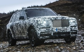 Picture Rolls Royce, Nature, Rocks, Camo, Cullinan