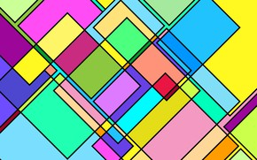 Picture green, pink, colores, squre