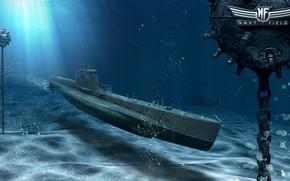 Picture submarine, mines, Navy Field, Submarine Pike