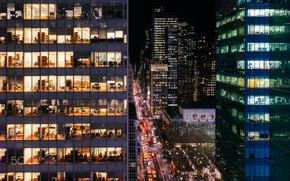 Picture lights, the evening, Manhattan, photographer, USA, New York, Roman Kruglov
