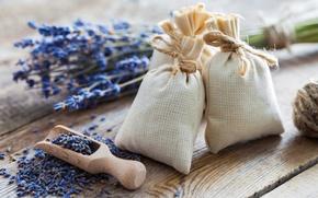 Picture flowers, lavender, bags, lavender, salt, spa
