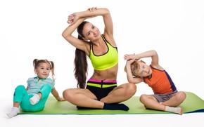 Picture female, yoga, mom