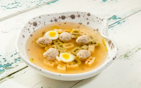 Picture egg, food, soup, the first dish