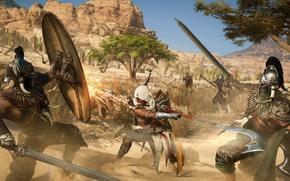 Picture armor, ken, Assassin's Creed, blade, bones, pearls, hood, Assassin's Creed Origins, gamesword