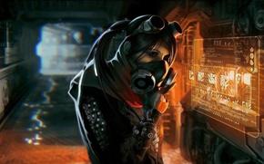 Picture Girl, Art, Sci Fi, Cyberpunk, Ultra HD 4K