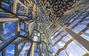 Wallpaper Harpa, Iceland, Reykjavik, concert hall