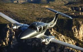 Picture the sky, earth, flight, the plane, Diamond, DA-42