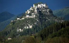Picture grad, wall, mountain, fortress, Austria, Hochosterwitz
