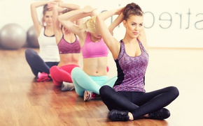 Wallpaper group, elongation, Yoga, class, women