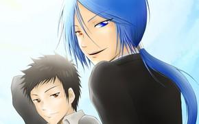 Picture anime, art, guys, Rokudou Mukuro, Katekyo Hitman REBORN!, Yamamoto Takeshi