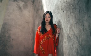 Picture look, face, background, dress, Asian