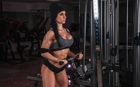 Picture female, fitness, bodybuilder