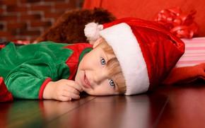 Picture joy, new year, cap, child, boy