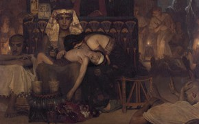 Picture picture, history, mythology, Lawrence Alma-Tadema, Lawrence Alma-Tadema, The Death Of The Firstborn Of The Pharaoh
