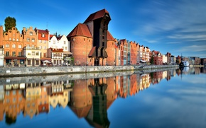 Picture Poland, Poland, Old Town, Gdansk, Gdansk, Pomeranian, Motlawa channel
