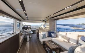 Picture interior, yacht, salon