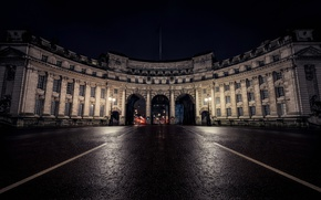 Picture night, England, London, Admiralty Arch