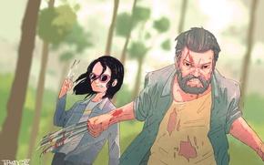 Picture Hugh Jackman, Logan, art, wolverine, x-23
